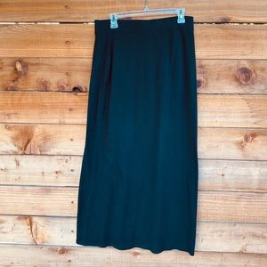 ⚡️Sonoma maxi black cotton skirt